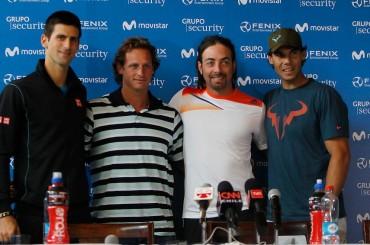 Massu, Nalbandian, Djokovic y Nadal en Santiago de Chile