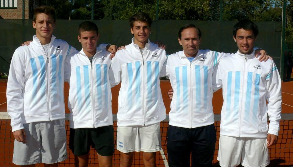 Camilo Ugo, Wenceslao Albin, Manuel Peña Lopez, Martín Errecalde y Genaro Olivieri Foto: Prensa AAT