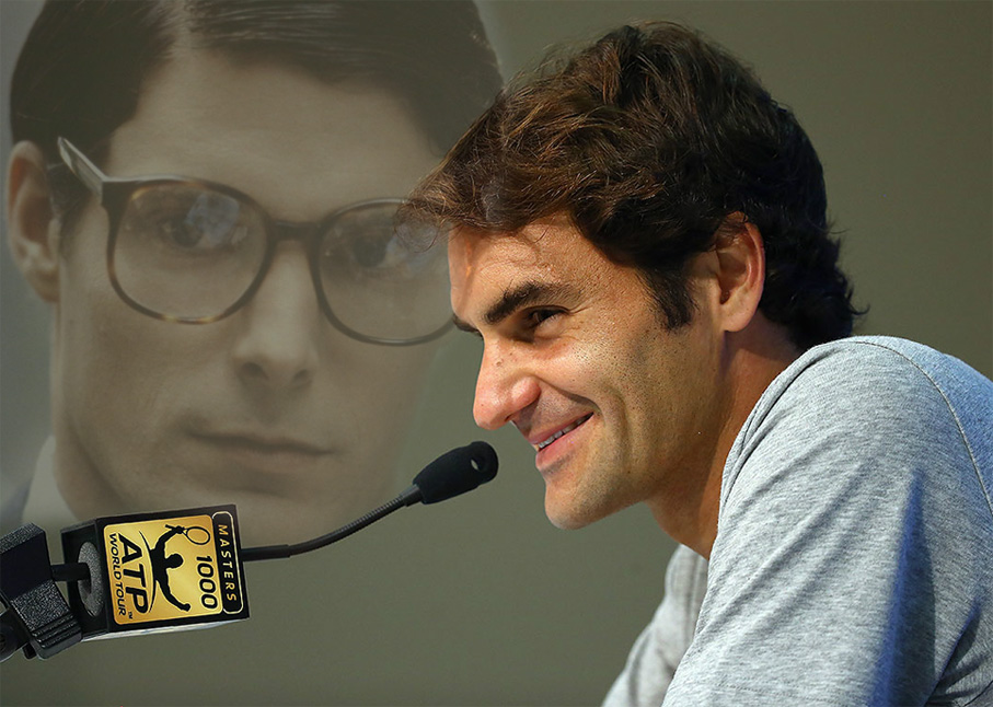 Federer en Cincinnati Foto original: Getty Images