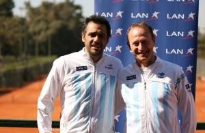 Mariano Zabaleta y Martín Jaite en el Buenos Aires Lawn Tennis Club (Foto: Hans Ruhle)