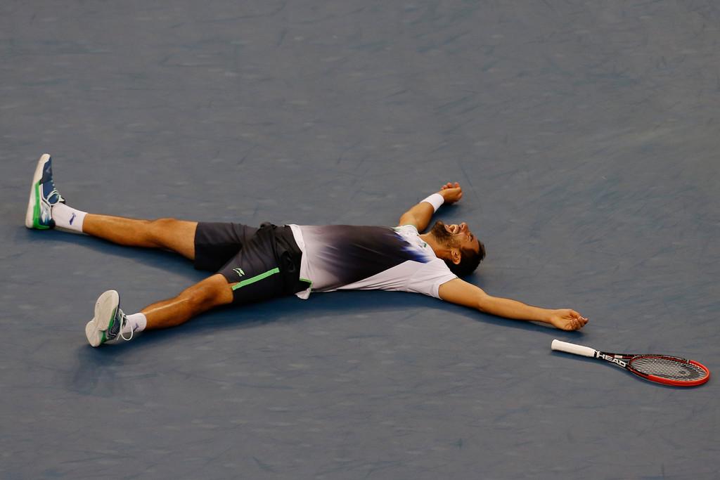 Marin Cilic es pura alegría Foto: Getty Images