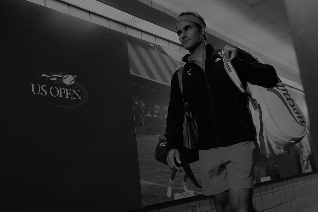 Roger Federer rumbo al Arthur Ashe Foto: Getty Images
