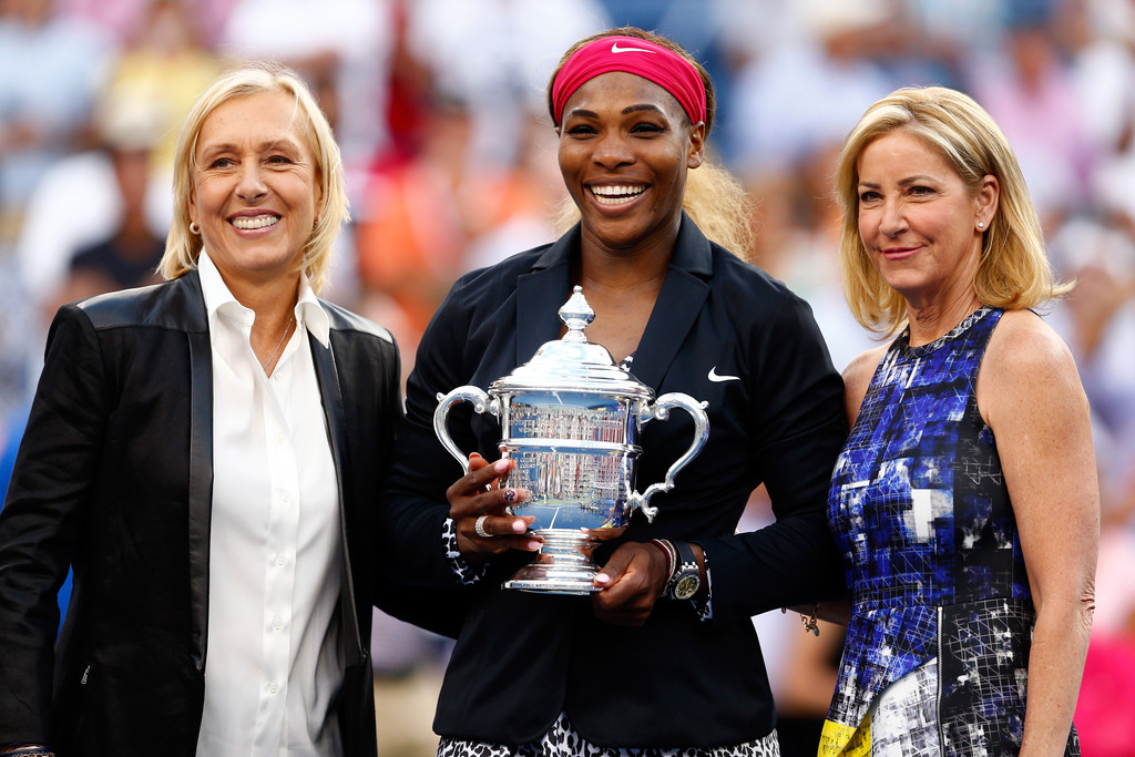 Serena junto a Martina Navratilova y Chris Evert Foto: Getty Images