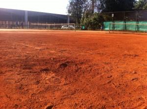Las canchas del Futures de Temuco no están en condiciones para recibir un torneo (Foto: Tomás Buchhass)