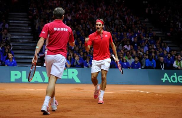 Roger Federer y Stan Wawrinka Foto: Copa Davis