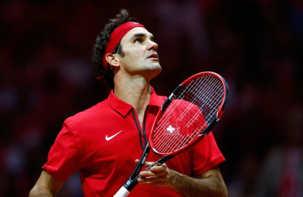 Roger Federer en la final de la Copa Davis (Foto: Getty Images)