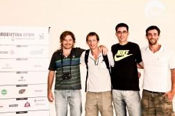 Diego Amuy, Hans Ruhle, Fernando Mosquera y Agustín Ruhle en la presentación oficial del ATP de Buenos Aires 2015.