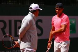 Rafael Nadal junto a su tío Toni Nadal (Foto: Getty Images)