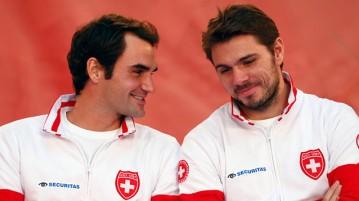Roger Federer y Stan Wawrinka (Foto: Getty Images)