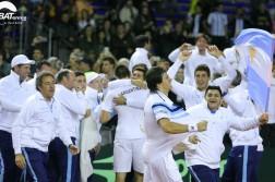 El equipo argentino en plena euforia de los festejos.  (Foto: Hans Ruhle Fotografia)