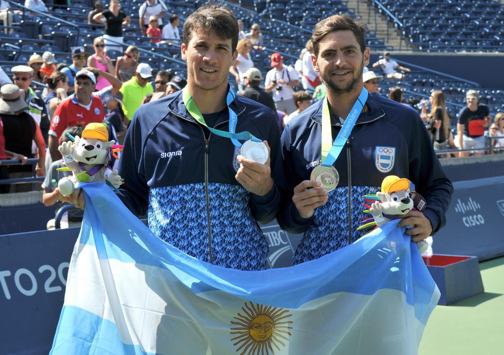 Facundo Bagnis y Guido Andreozzi y su medalla de plata