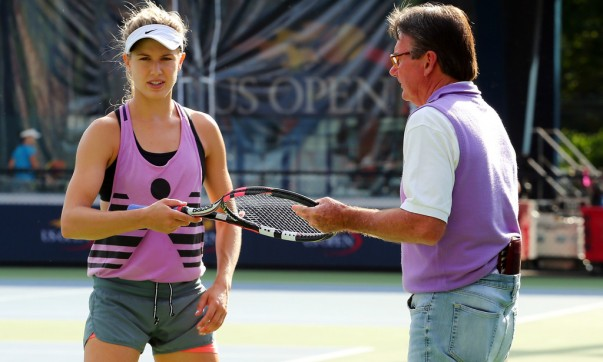 Eugenie Bouchard y Jimmy Connors en Flushing Meadows (Foto: Getty Images)