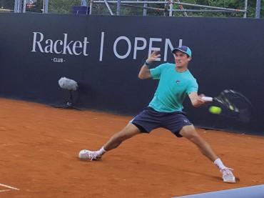 Facu Bagnis en la final del Racket Open