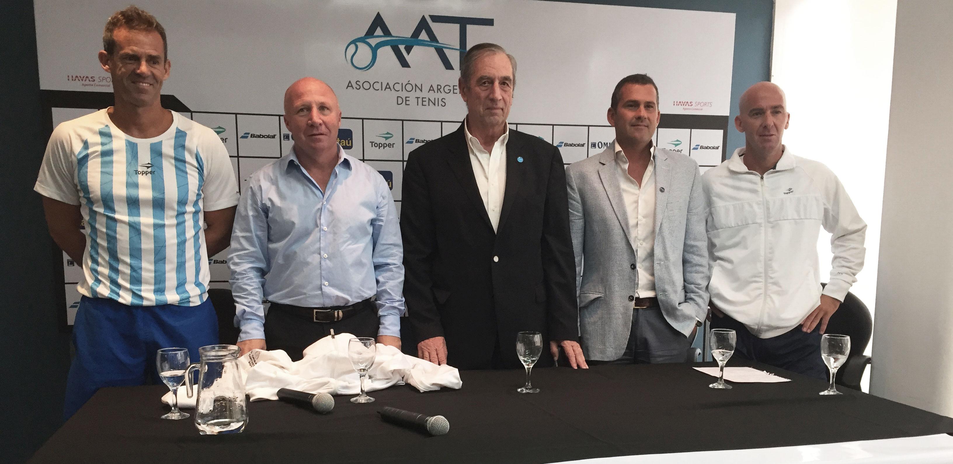 Anuncio del equipo argentino de Copa Davis
