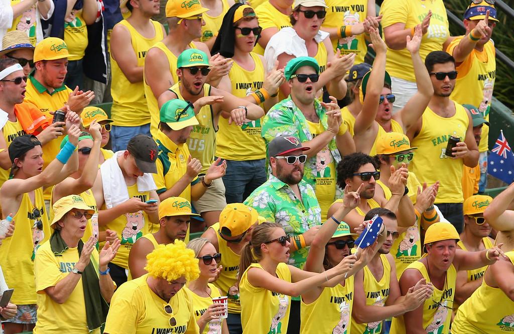 Hinchada australiana, Copa Davis