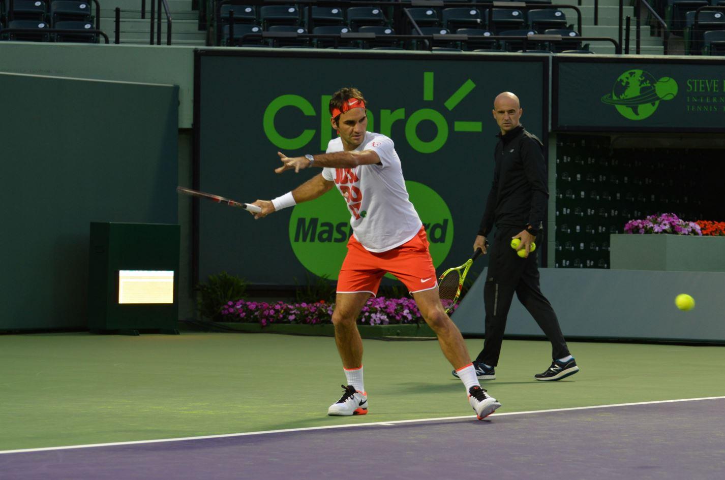 Roger Federer en el Miami Open