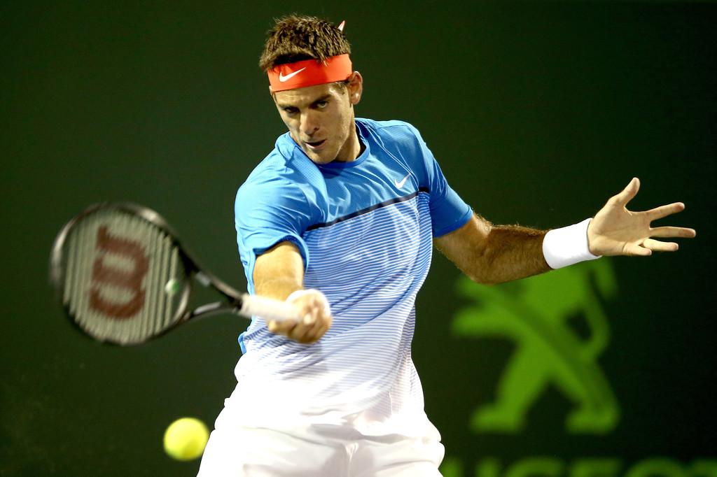 Juan Martín del Potro en la primera ronda del Miami Open