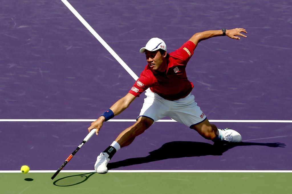Kei Nishikori en el Miami Open