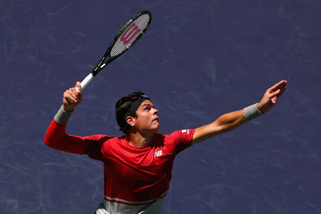 Milos Raonic en los octavos de Indian Wells