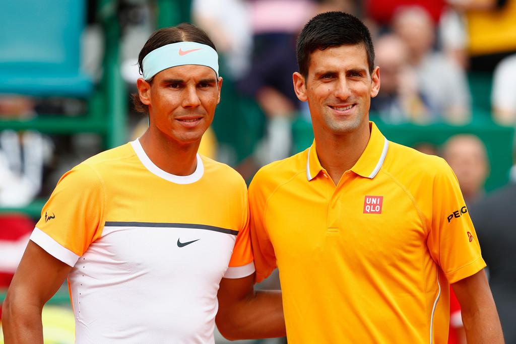 Rafael Nadal y Novak Djokovic en la semifinal de Montecarlo 2015