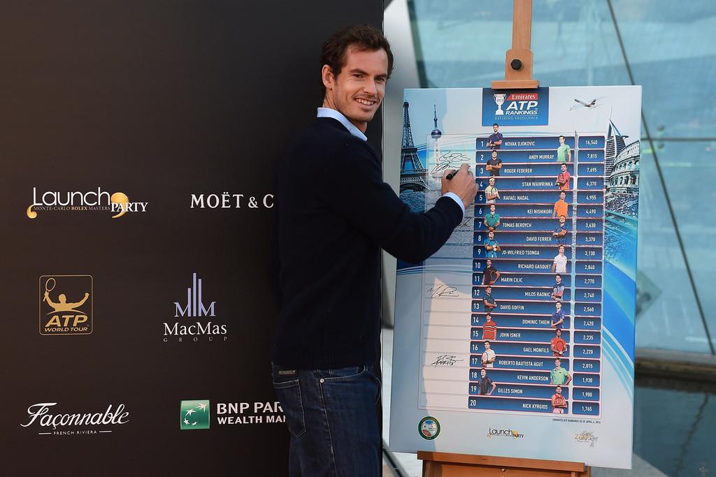 Andy Murray y el famoso cartel de Montecarlo