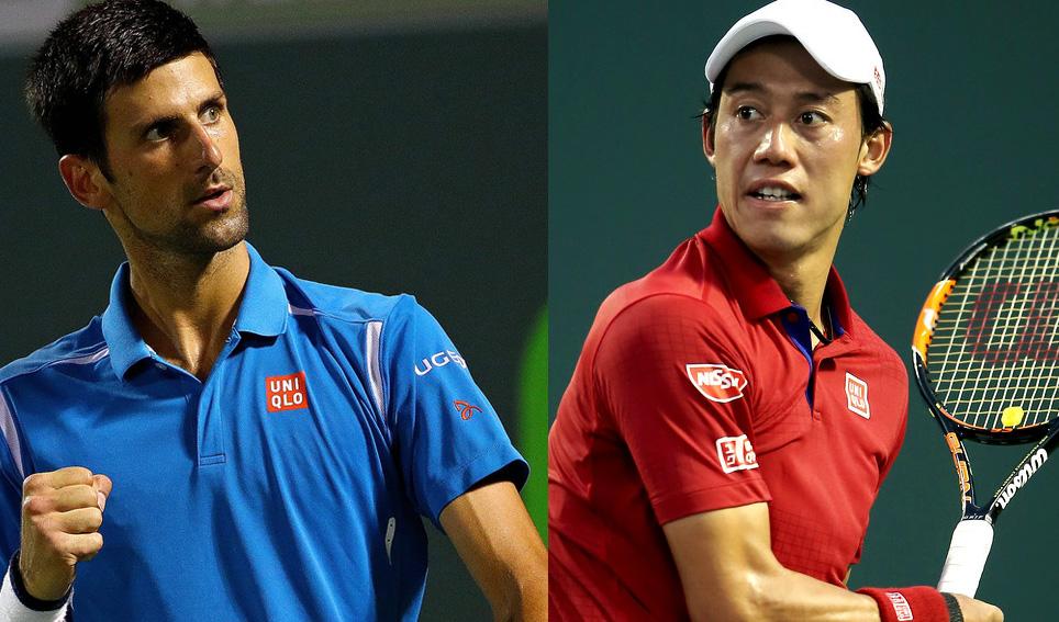 Novak Djokovic y Kei Nishikori, los finalistas del Miami Open 2016