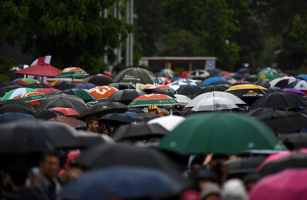 La lluvia arruinó la primera jornada de Roland Garros