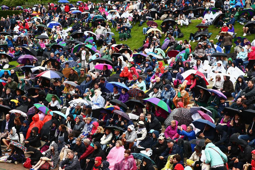 La lluvia, otra vez protagonista de Wimbledon 2016