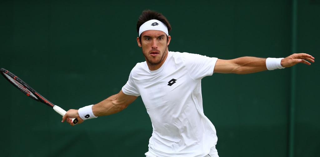 Leo Mayer en Wimbledon