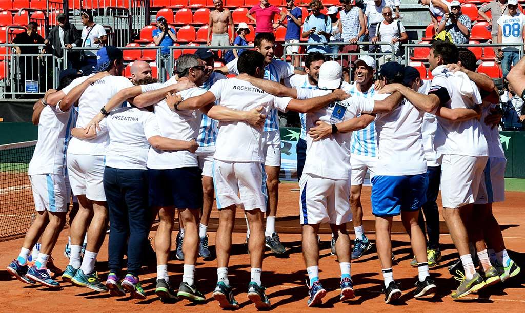 El equipo argentino de Copa Davis