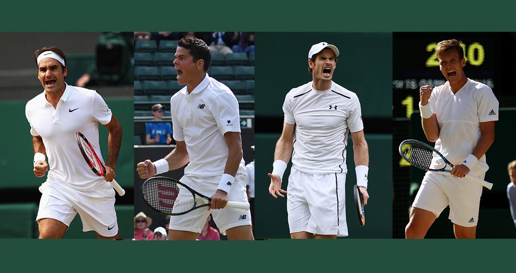 Los semifinalistas de Wimbledon 2016