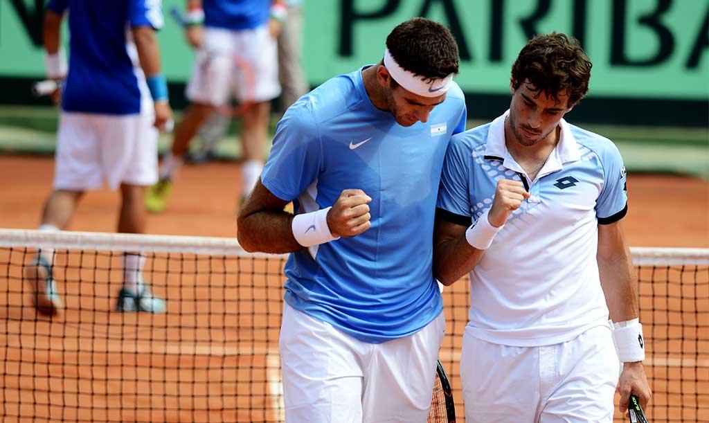 Del Potro y Pella en la Copa Davis