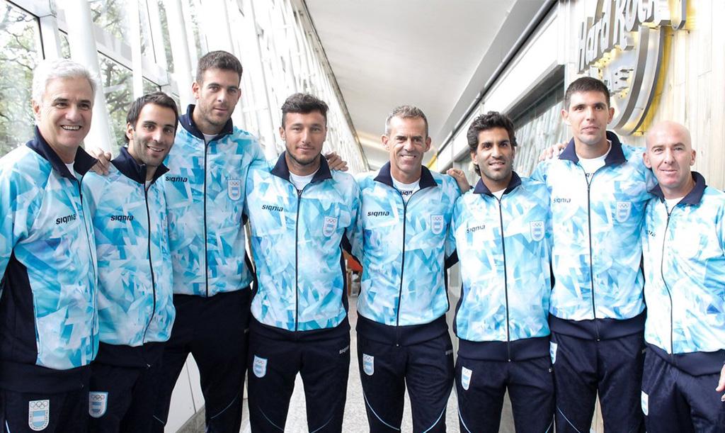 El equipo argentino para Rio 2016 (sin Guido Pella)