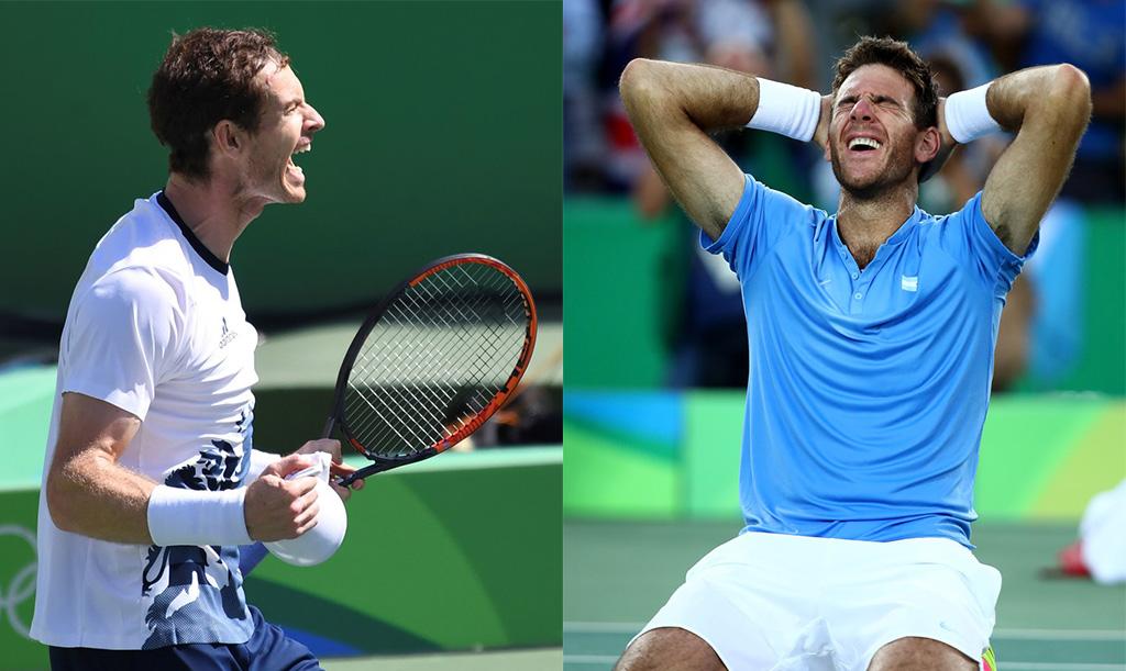 Andy Murray y Juan Martín del Potro, los finalistas de Rio 2016