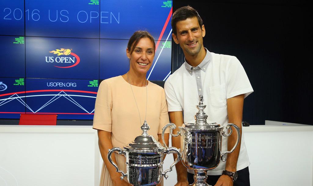 Flavia Pennetta y Novak Djokovic, los campeones del US Open 2015