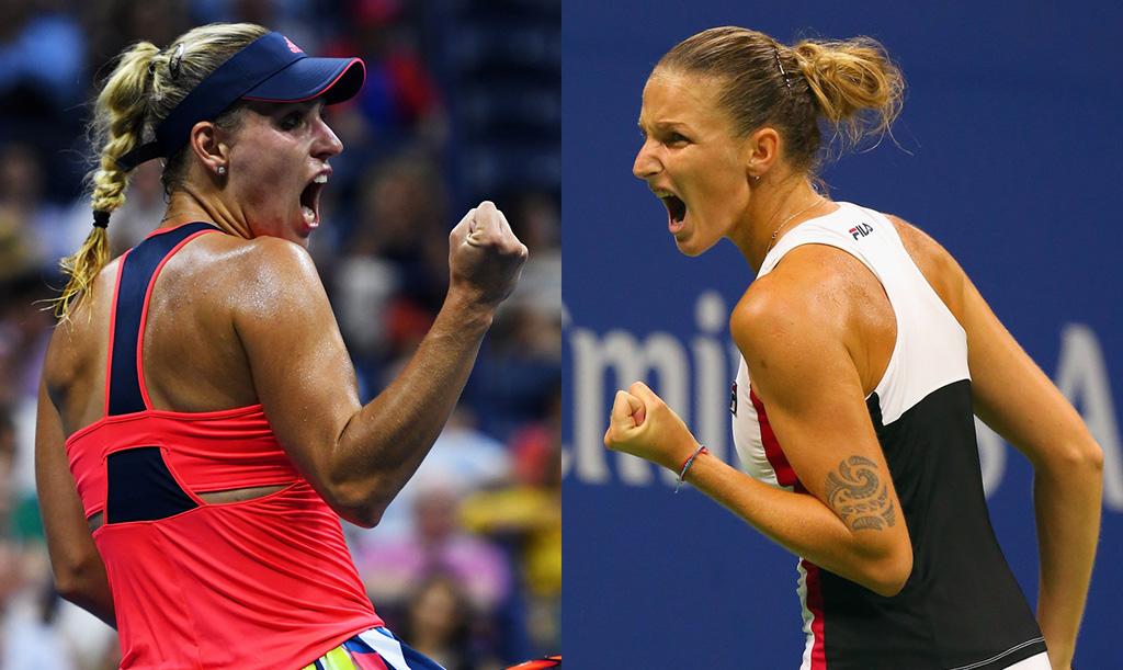 Angelique Kerber y Karolina Pliskova, las finalistas del US Open 2016