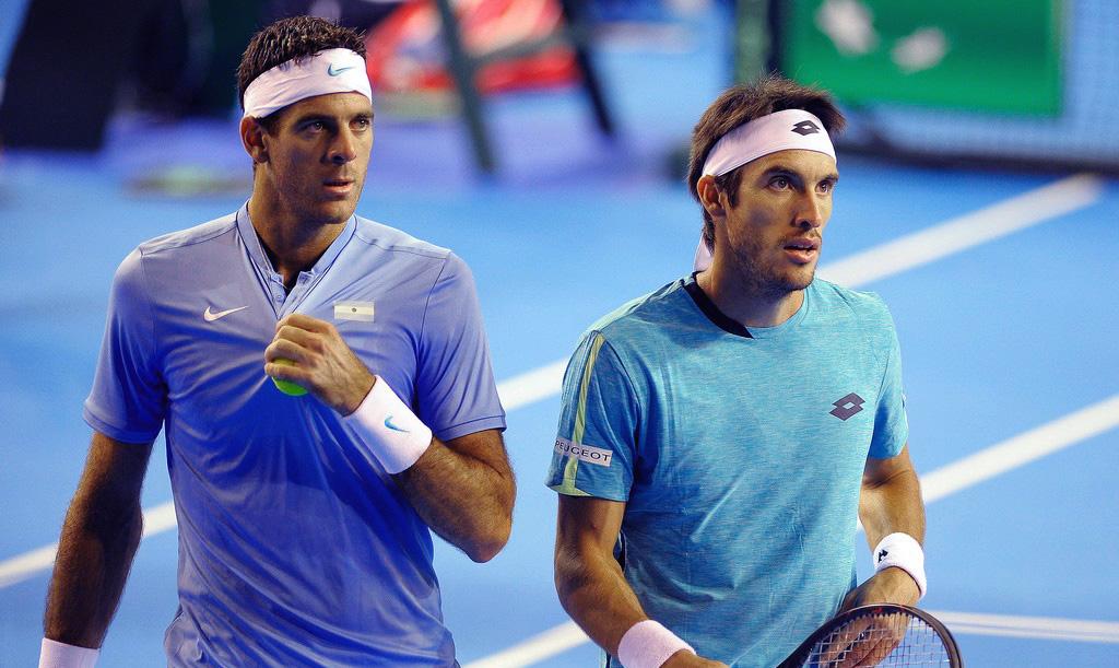 Juan Martín del Potro y Leo Mayer en la Copa Davis