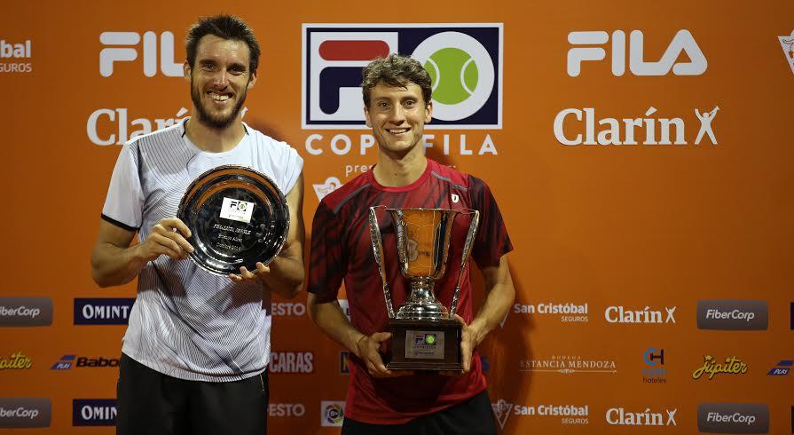 Leo Mayer y Renzo Olivo, finalista y campeón de la Copa Fila