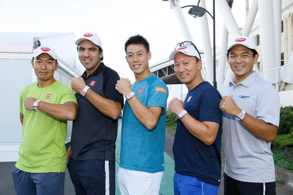 Dante Bottini y el team Nishikori