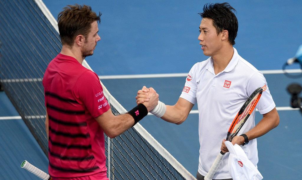 Stan Wawrinka y Kei Nishikori en las semis de Brisbane