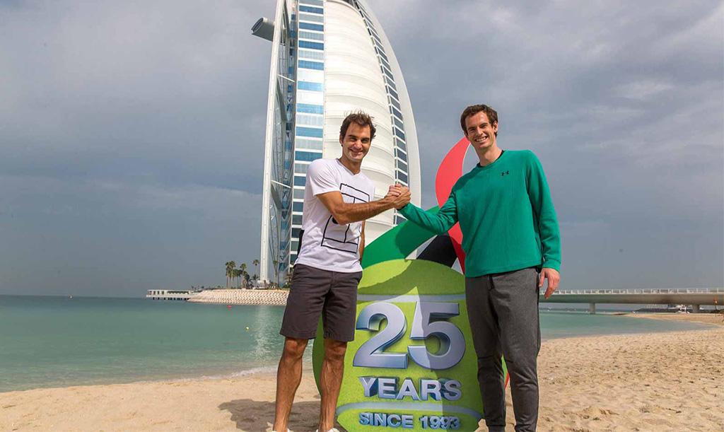 Roger Federer y Andy Murray en Dubai