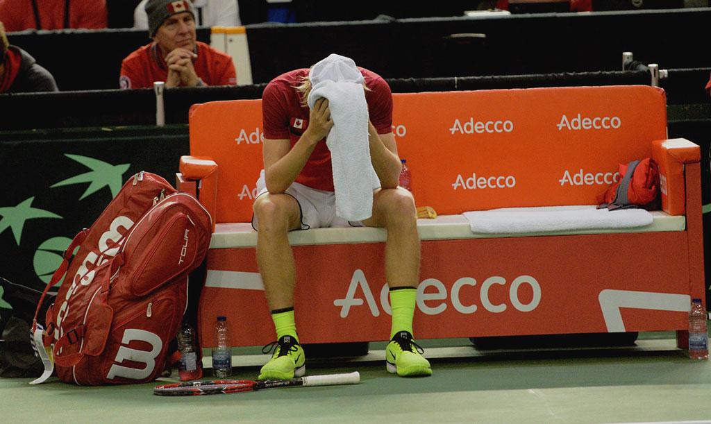 Denis Shapovalov en la Copa Davis
