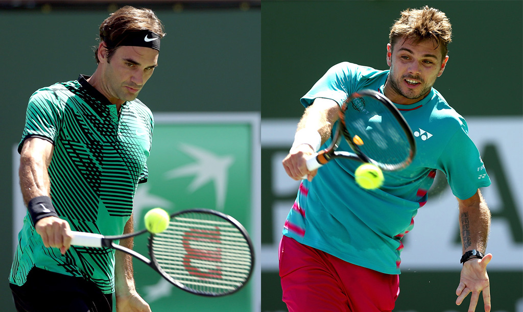Federer vs Wawrinka: final 100% suiza en Indian Wells