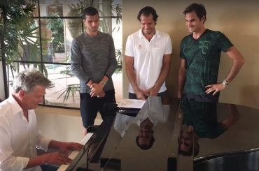 "Los ""One-Handed Backhand Boys"" y un invitado"