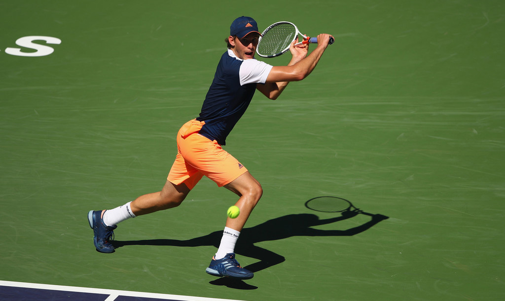 Dominic Thiem en Indian Wells