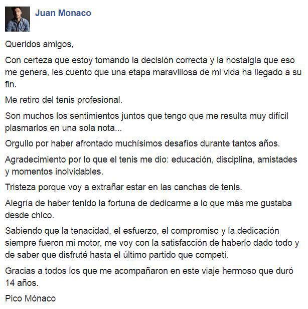 El mensaje de Mónaco