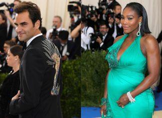 Roger Federer y Serena Williams en el Met Gala